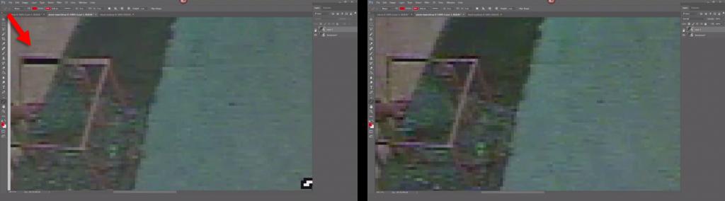 Comparing images up close