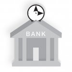 Time is money in the bank icon.