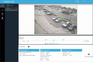 Parking lot view of crime scene shown in the iNPUT-ACE user interface.
