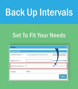 Automatic Project Back Up Interval Settings