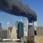 Smoke coming out of the Twin Towers