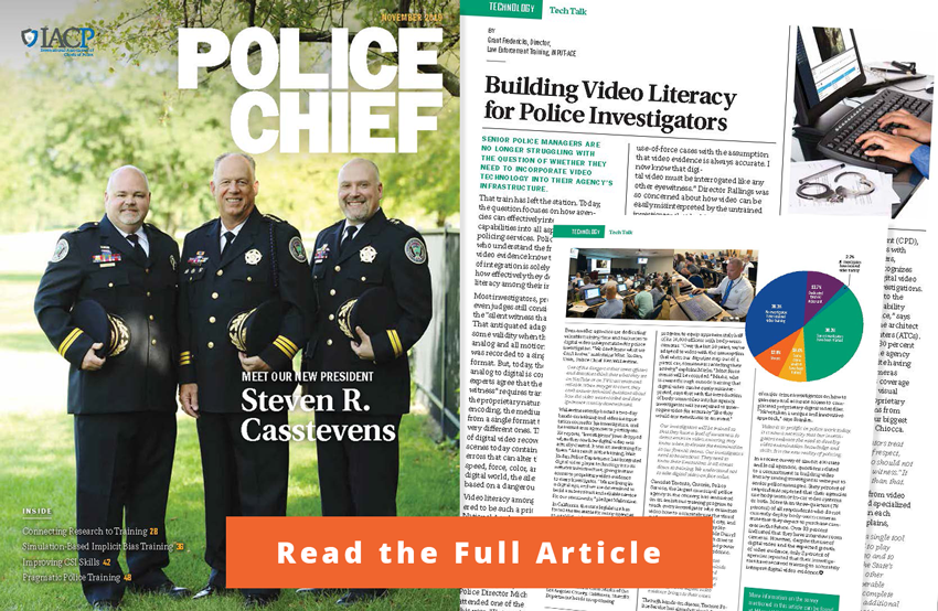 Building Video Literacy for Police Investigators